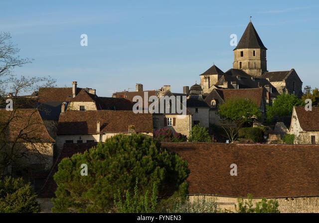 The charming village of Saint Robert Correze France - Stock Image