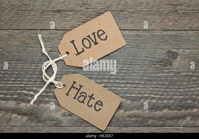 Love & Hate - Stock Image