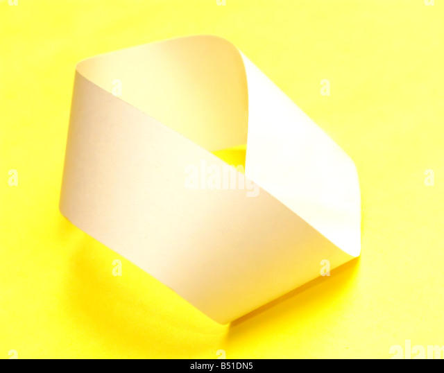 Paper Mobius strip - Stock Image