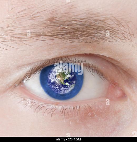 Global outlook - Stock Image