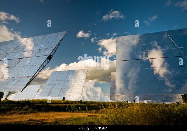 Andalusia Spain solar energy stream current energy Panels alternative energy ecology traveling tourism vacation - Stock Image