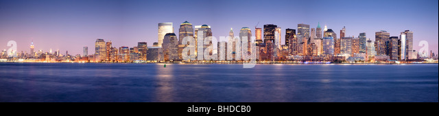Manhatten Skyline viewed from New Jersey - Stock Image
