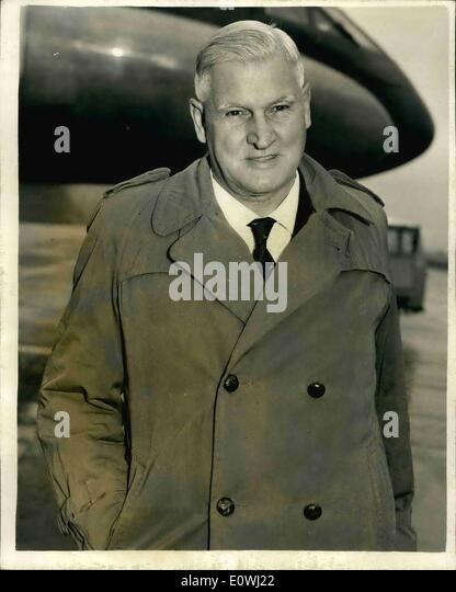 Mar. 03, 1963 - Nyasaland Federal Minister For Home Affairs Arrives: Sir. Athol Evans, Federal Minister for Home - Stock Image