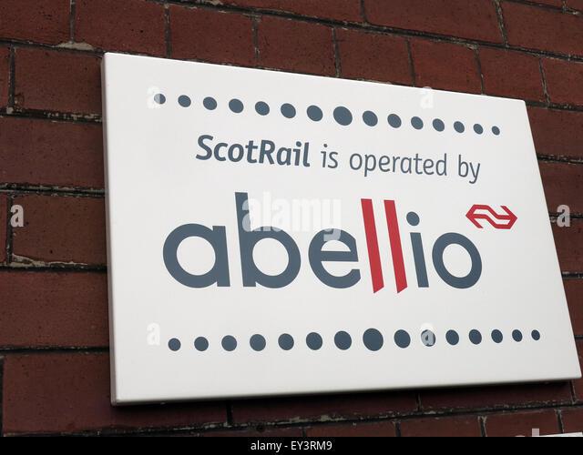 Annan Railway Sign, Dunfries & Galloway,Scotland,UK - Stock Image