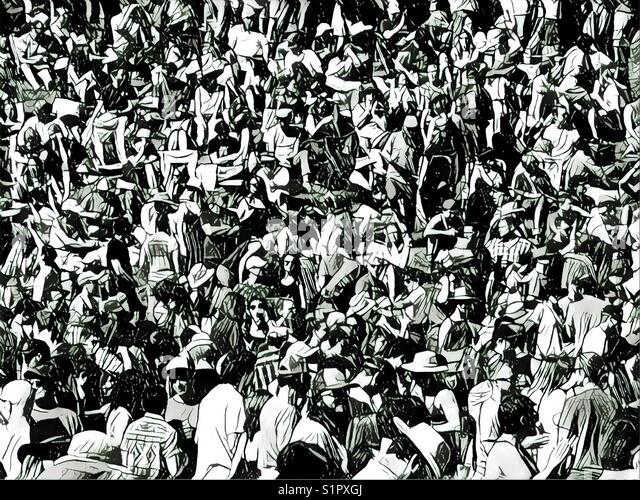 Large crowd scene - Stock Image