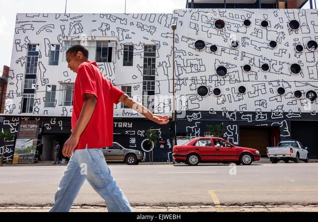 Johannesburg South Africa African Maboneng District Commissioner Street Arts on Main gentrified urban neighborhood - Stock Image