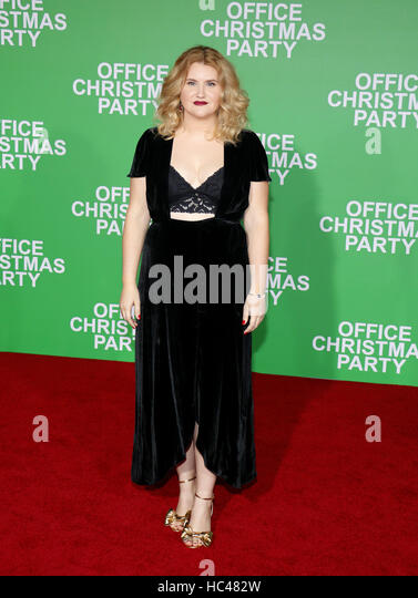 Westwood, USA. 07th Dec, 2016. Jillian Bell at the Los Angeles premiere of 'Office Christmas Party' held - Stock Image