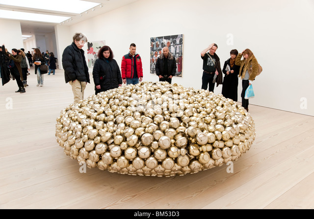 Contemporary art at the Saatchi Gallery, London, England, Britain, UK - Stock Image