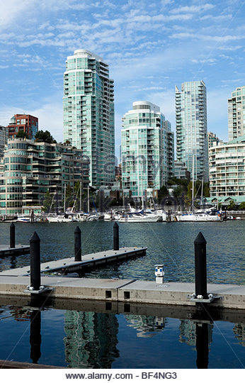 Yaletown Scenic View from Granville Island, Vancouver, B.C. - Stock Image