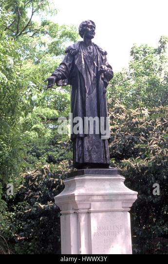 Statue of Emmeline  Pankhurst in Victoria Tower Gdns - Stock Image