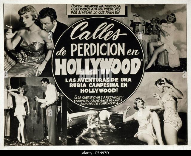 CALLES DE PERDICION EN HOLLYWOOD, (aka STREETS OF SIN IN HOLLYWOOD), ca. 1950s - Stock Image