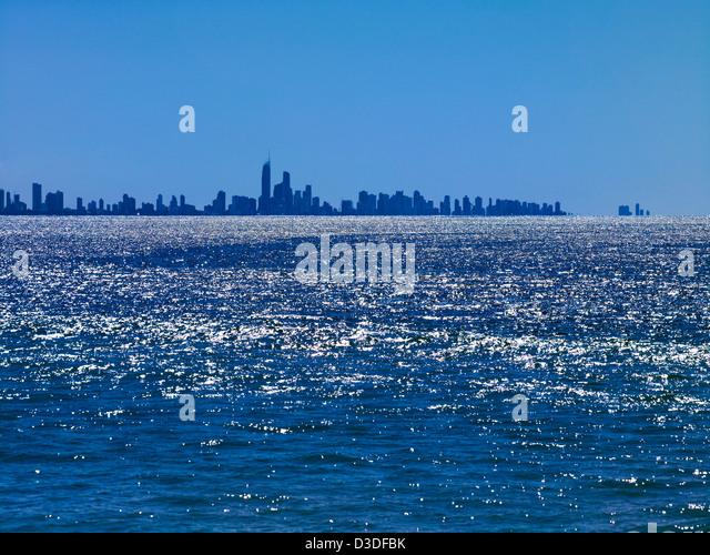 Gold Coast skyline Queensland Australia - Stock Image
