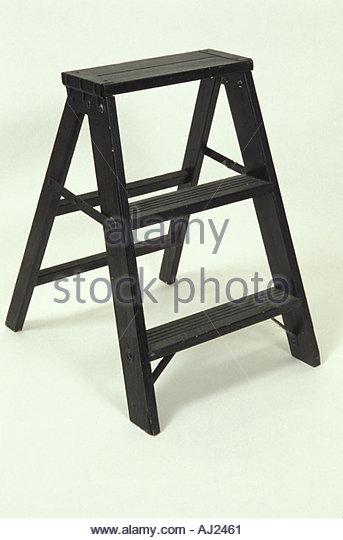 still life of black step ladder - Stock Image
