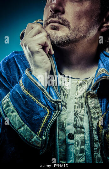 Blue prince, glory concept, funny fantasy picture - Stock Image