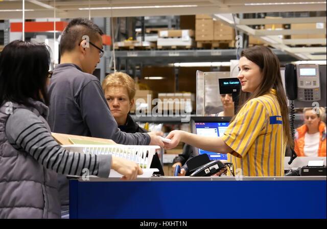 Cashier machine stock photos cashier machine stock for Ikea jobs orlando fl