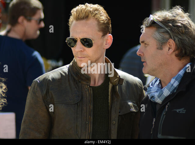 Tom Hiddleston on the set of The Night Manager by John le Carre - Stock-Bilder