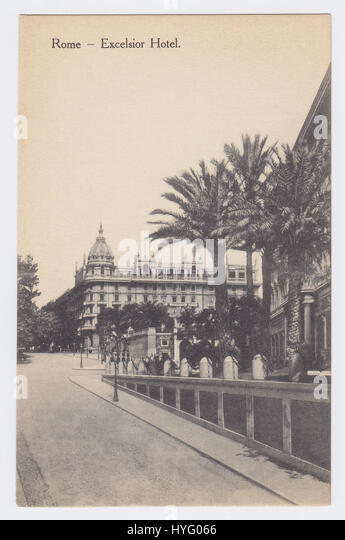Hotel Excelsior & Via Vittorio Veneto, Rome, Italy - Stock Image