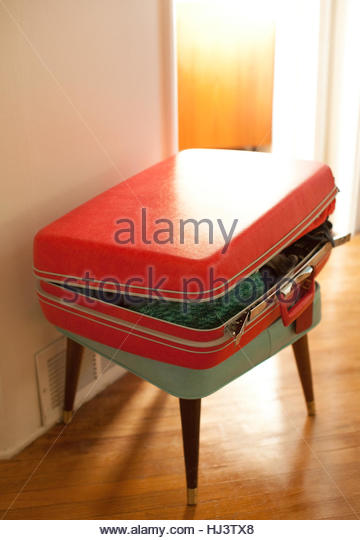 Vintage Suitcase - Stock Image