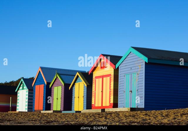 Beach huts australia stock photos beach huts australia for Model beach huts