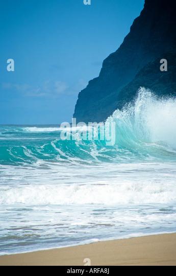 polihale beach,kauai - Stock Image