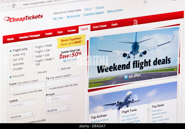 Website tickets stock photos website tickets stock for Sites with cheap flights