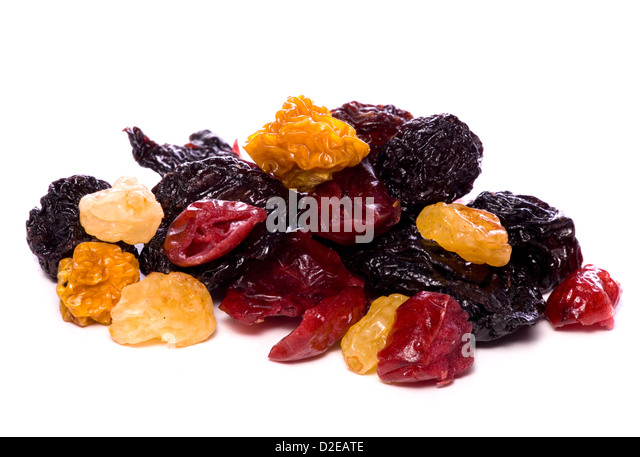 mixed dried berries studio cutout - Stock Image
