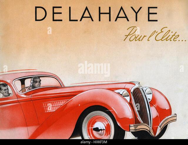 1938 Delahaye - Stock Image