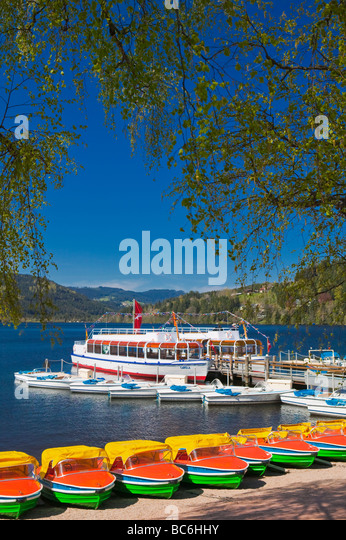 Lake Titisee Baden Wurttemberg Schwarzwald Black Forest Germany - Stock Image
