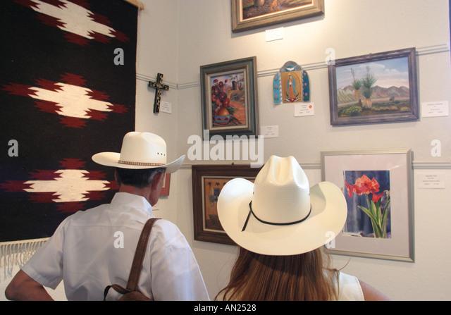New Mexico Albuquerque State Fair Indian Arts exhibit W - Stock Image