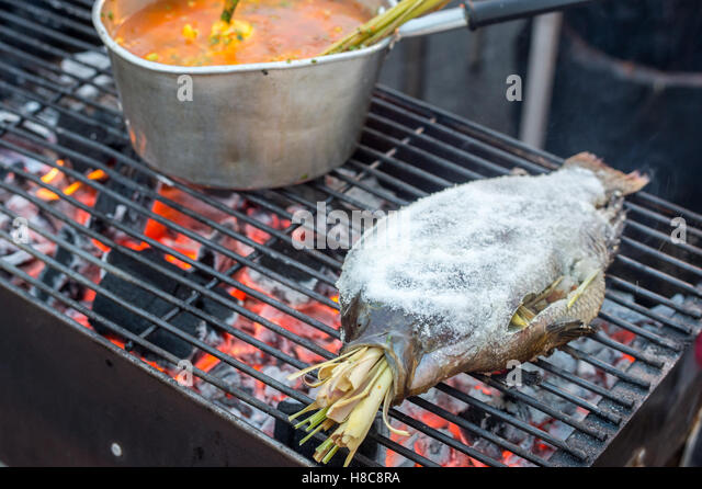 Delicious tasty spicy Thai food - Stock Image