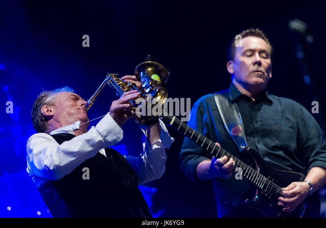 Cartagena, Spain. 21st July, 2017. The British music group UB40 during their performance at La Mar de Musicas Festival. - Stock Image