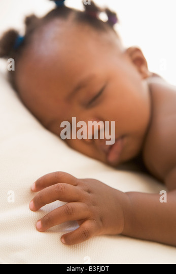 Baby sleeping - Stock Image