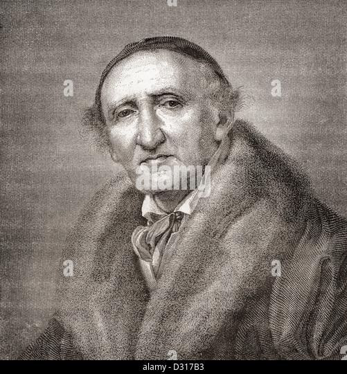 Johann Gottfried Schadow, 1764 ?1850. German sculptor. - Stock-Bilder