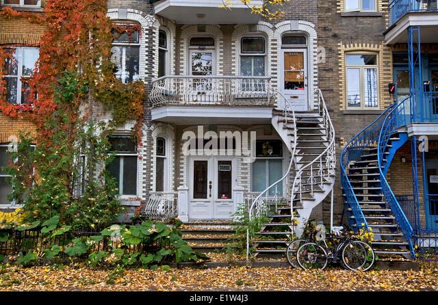 Rue Garnier, Montreal, Canada - Stock Image