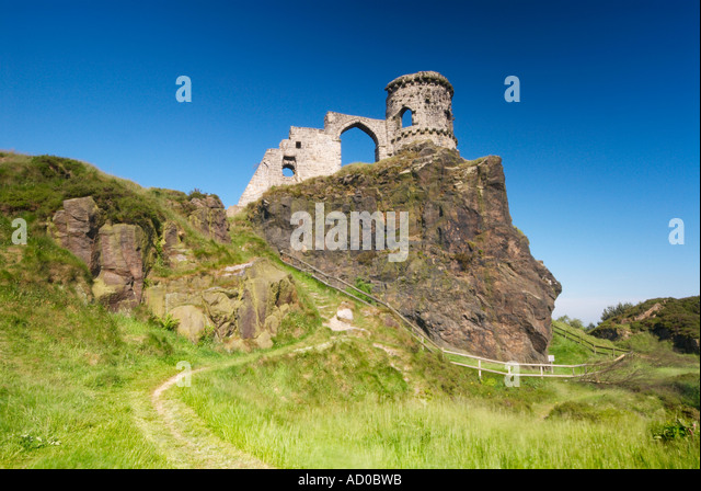 Folly Castle at Mow Cop Cheshire Staffordshire UK - Stock Image