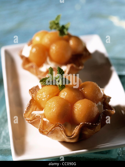Melon tart - Stock Image
