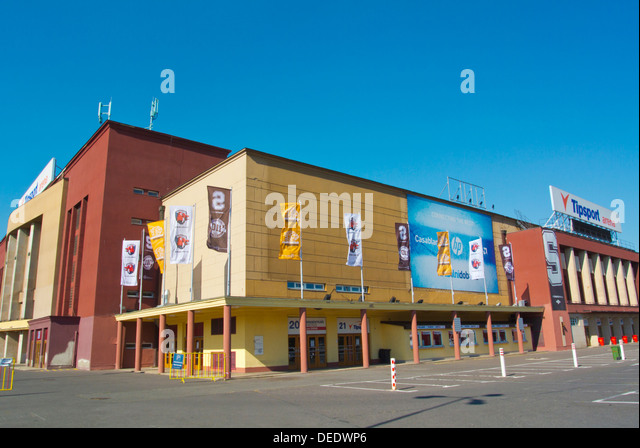 Tipsport Arena aka Sportovni Hala (1962) ice hockey arena Vystaviste exhibition grounds Holesovice district Prague - Stock Image