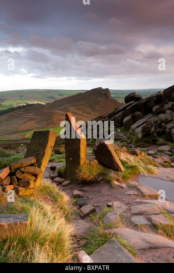 Hen Cloud The Roaches Staffordshire - Stock Image