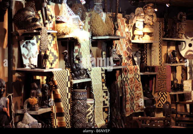 out of africa craft shop johannesburg international airport south africa - Stock Image