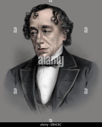 Benjamin Disraeli - Earl of Beaconsfield. British Conservative statesman and literary figure: 21 December 1804 – - Stock Image