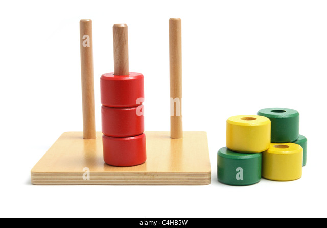 Wooden Stack And Sort Toy - Stock Image
