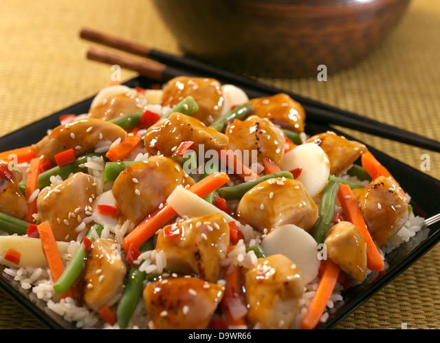 chicken teriyaki - Stock Image
