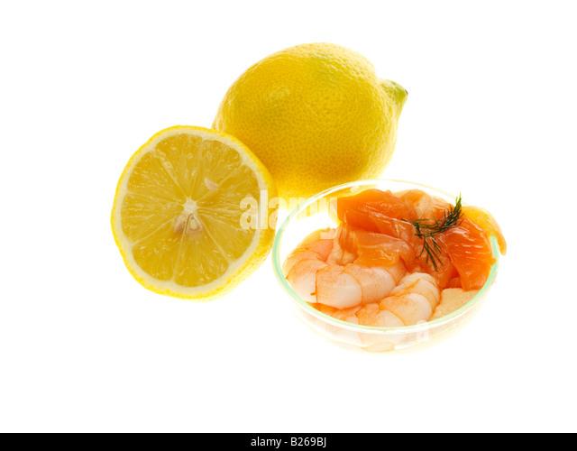 Seafood Entree - Stock Image