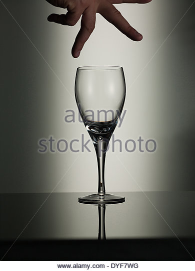 Wine glass - Stock Image