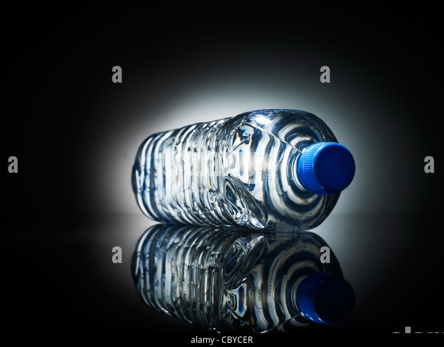 Bottled water one litre - Stock Image