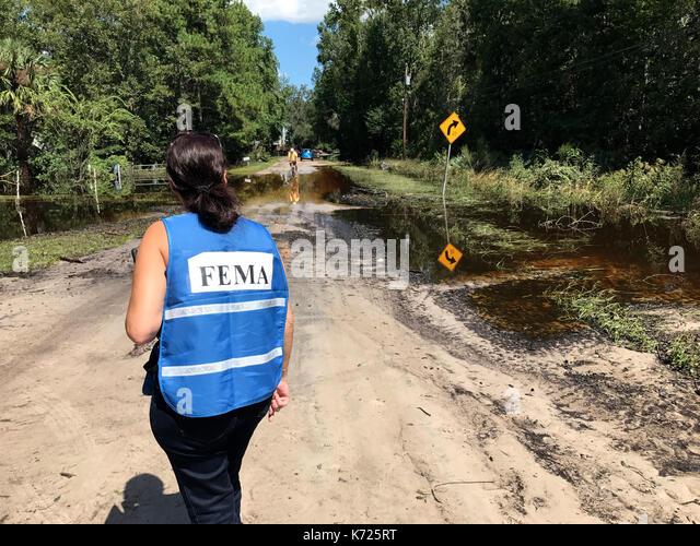 United States. 13th Sep, 2017. Storm flood damaged area in Middleburg, Florida, USA, on September 13, 2017 after - Stock Image