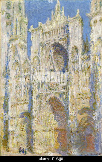 Claude Monet - Rouen Cathedral, West Façade, Sunlight - Stock Image