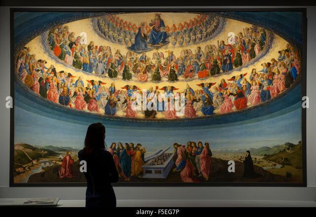 The National Gallery, London, UK. 3rd November, 2015. Dr. Jennifer Sliwka, Curator, stands in front of Francesco - Stock Image
