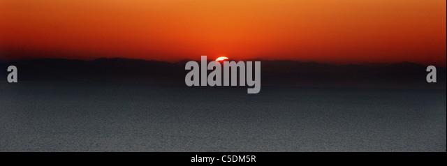 Sun rise in kefalonia - Stock Image