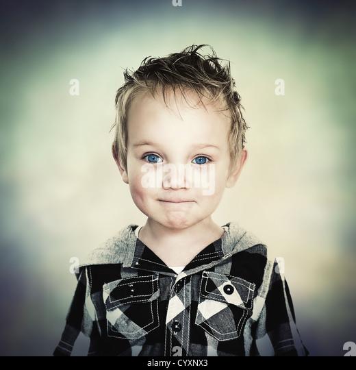 young boy portrait - Stock Image